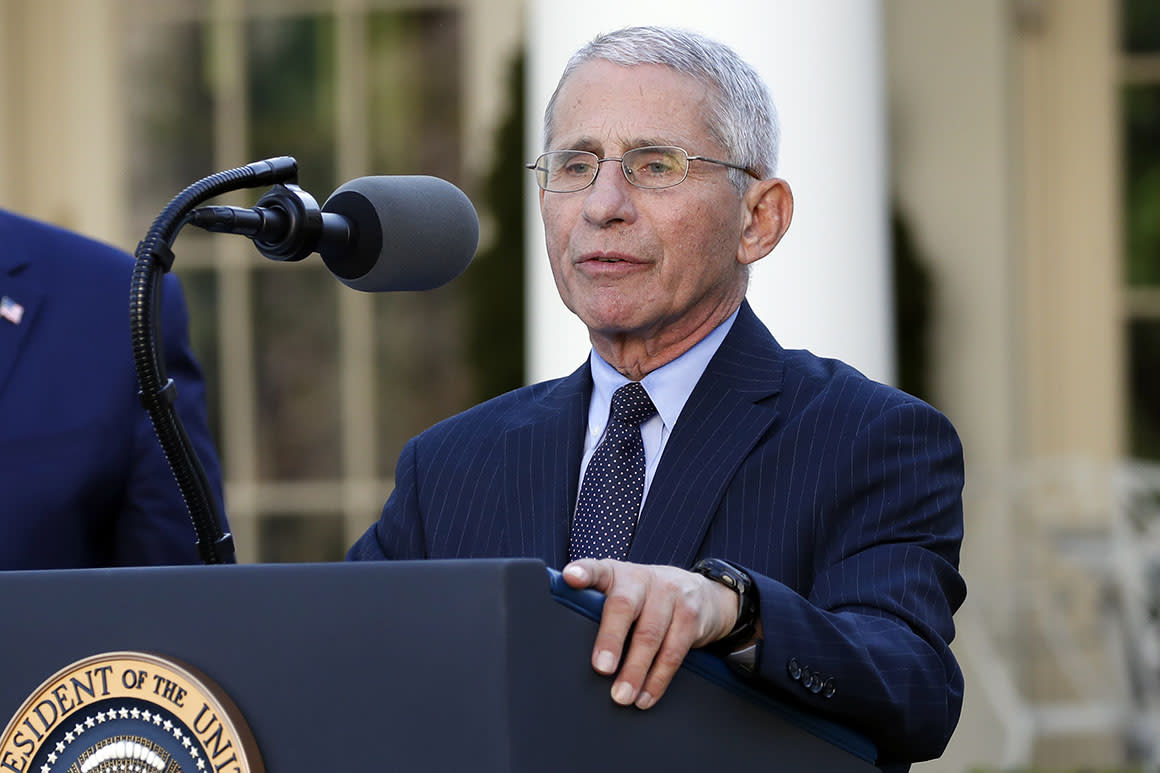 Coronavirus Task Force's Fauci receives a security detail