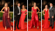 Ladies in red: WAGs shine on the Dally M red carpet