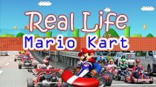 Real life Mario Kart in streets of Tokyo
