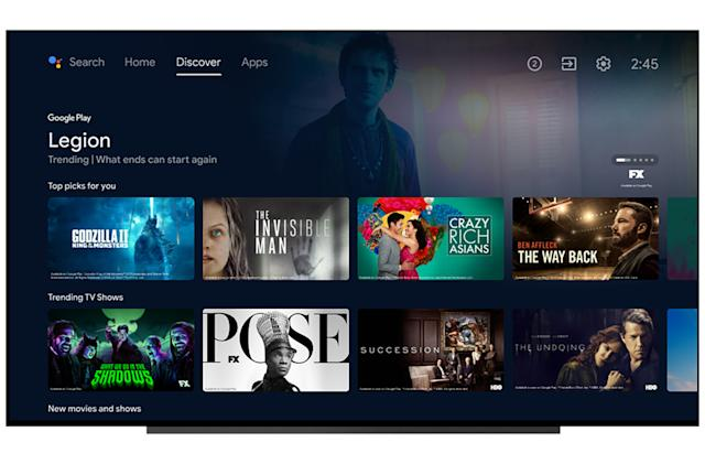 Google simplifies the Android TV interface to focus on recommendations
