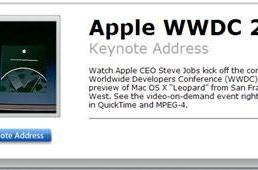 2006 WWDC Keynote now available on Apple.com