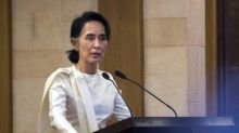 Myanmar's Suu Kyi defends first year in power