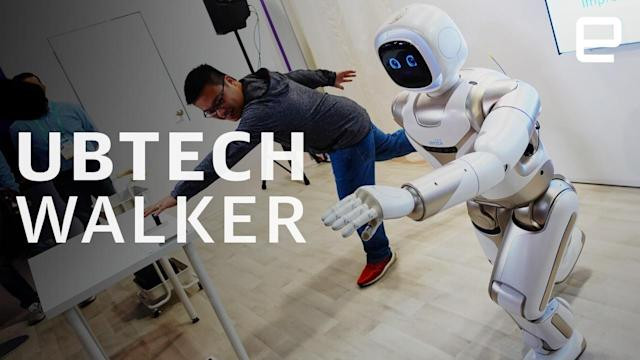 Ubtech's updated Walker robot does 'yoga' and pours drinks