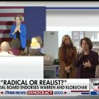 NYT editorial board endorses Warren and Klobuchar