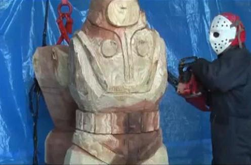 Here's that video of Jason carving a Big Daddy out of a tree you wanted