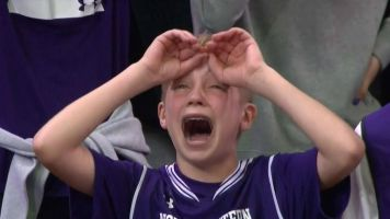 Happy tears from the 'Crying Northwestern kid'
