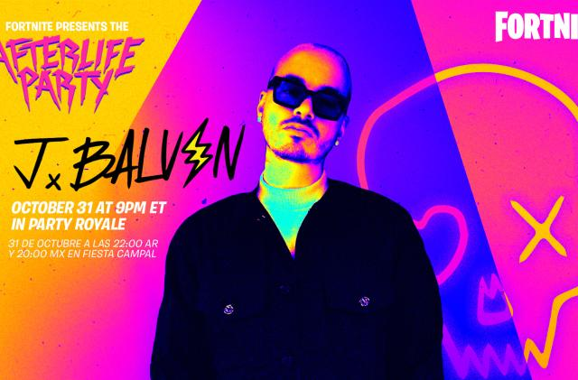 'Fortnite' will host a Halloween 'cross reality' concert for singer J Balvin