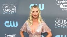 Kaley Cuoco stuns in see-through gown