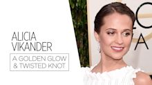 Recreate Alicia Vikander's Golden Globes Beauty Look For Under $30 [Video]