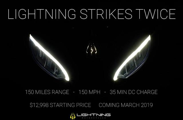 Lightning's $13,000 electric motorbike boasts a top speed of 150mph