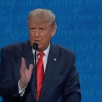 "Trump says ""I am the least racist person in this room"" at the last president debate"