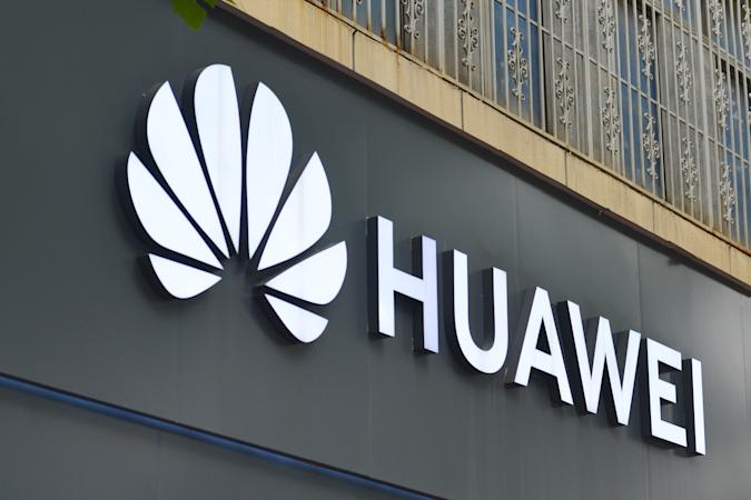 FUYANG, CHINA - 2020/07/15: Huawei logo seen at one of their branches. The UK government has ordered companies to strip equipment from Huawei out of the system by 2027. (Photo by Sheldon Cooper/SOPA Images/LightRocket via Getty Images)