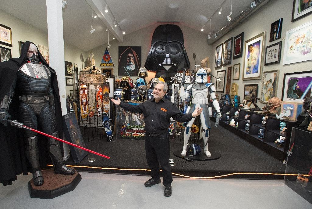 Steve Sansweet, pictured in November 2015 in his museum Rancho Obi-Wan, says that his longtime friend and museum volunteer has stolen over $100,000 in Star Wars collectibles