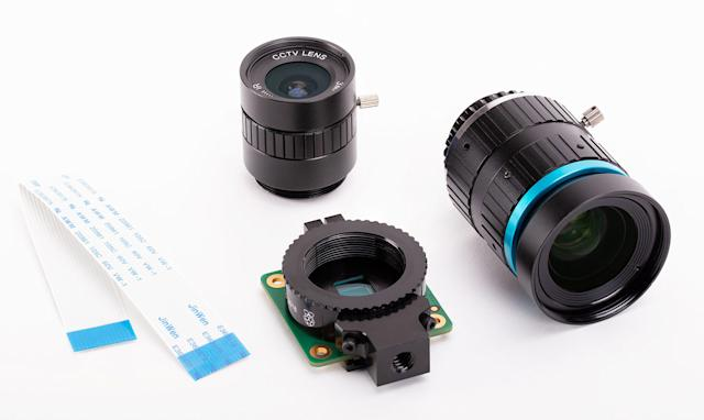 Raspberry Pi's improved camera module supports interchangeable lenses