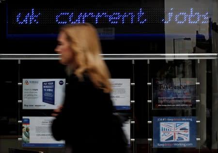 UK jobs market shines, but clouds on horizon