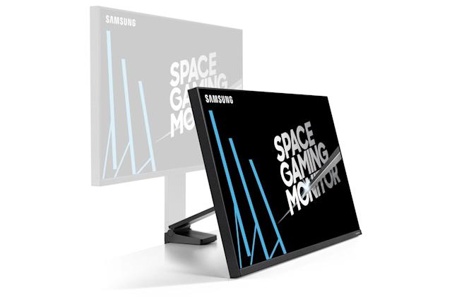 Samsung's 32-inch Space Gaming Monitor makes room for your PC