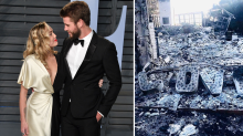 Liam Hemsworth shares a photo of his wildfire-ravaged home