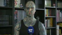 Essonne : cet instituteur tatoué de la tête aux pieds regrette de ne plus pouvoir enseigner en maternelle