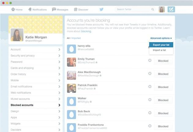 You can now share Twitter block lists because people are horrible