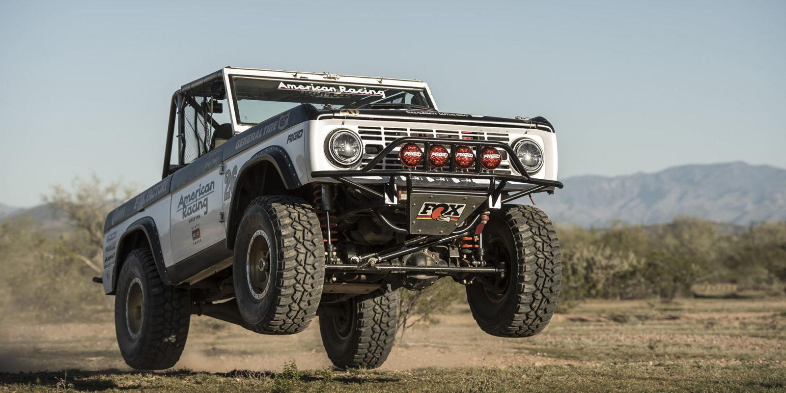 ford bronco    solid front axle