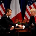 Macron begins Trump charm offensive with Fox News interview
