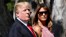 Melania Trump looks absolutely radiant in patterned sundress for Easter church service