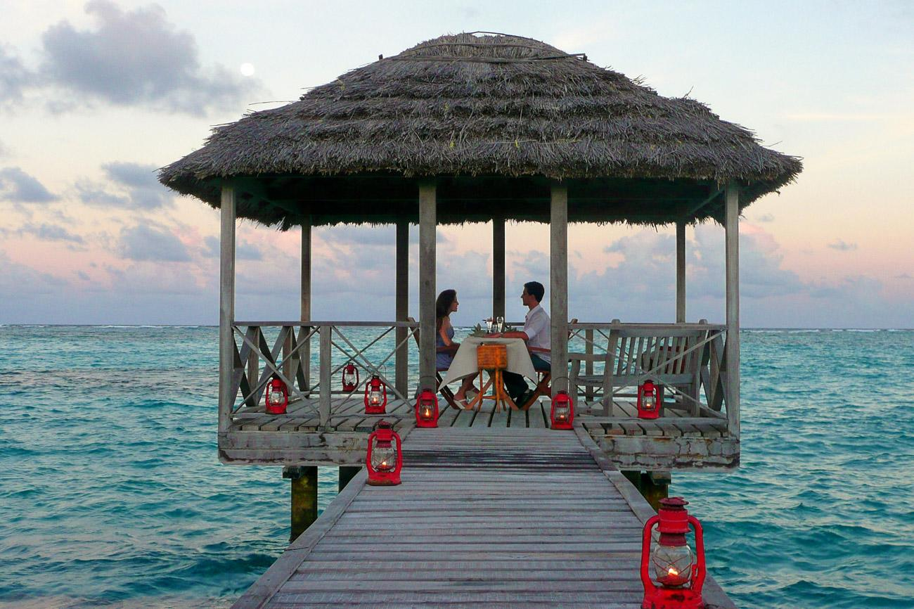"""The tiny private island resort of <b><a href=""""http://www.psvresort.com/"""" target=""""_blank"""">Petit St Vincent</a></b> in the Grenadines, 40 miles south of St Vincent, is wooing newlyweds with its Honeymoon and Romance package. Just 22 cottages share the ultimate barefoot luxury experience on this drop in the Caribbean ocean. And extra-special touches being laid on for lovers here include couples massages, snorkelling off Tobago Cays, and a three-course dinner for two on the beach. From $7,500 for two for seven nights."""
