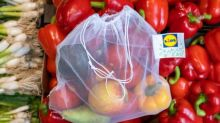 Lidl cuts down on plastic waste with reusable fruit and veg bags