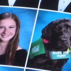 Guide dog joins high school senior in yearbook photo