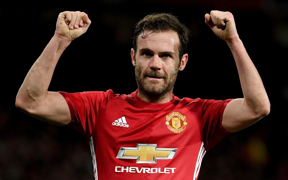 Juan Mata secured United's progress through to theEuropa League quarter-finals - 2017 Getty Images