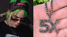Billie Eilish usa colar de diamantes de quase R$ 145 mil
