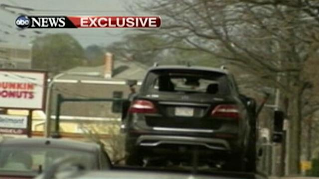 Bombing Suspects' Bullet-Riddled SUV: Exclusive