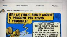 Zangrillo e la vignetta sui 'pochi' morti Covid