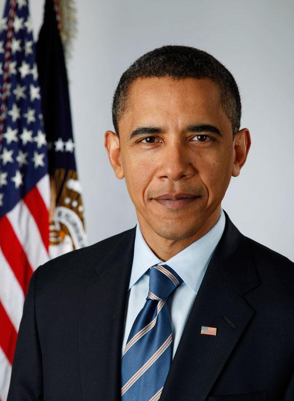 President Obama's official portrait: the first ever taken with a digital camera