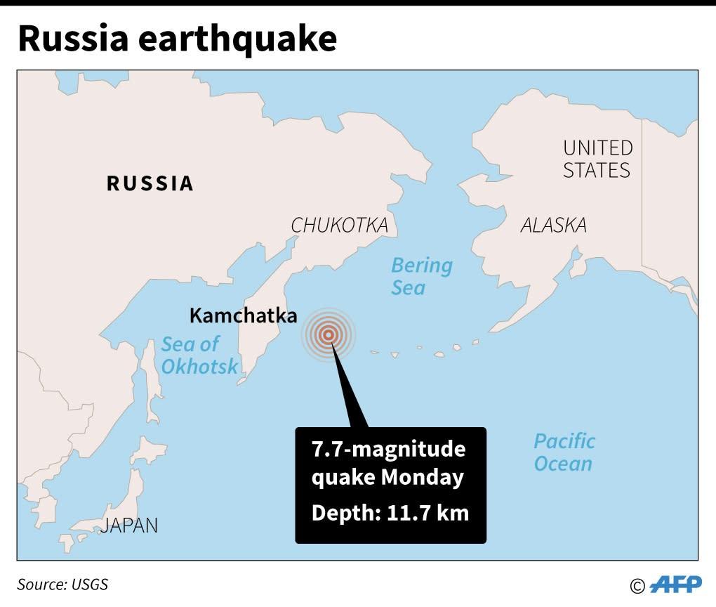 7.7-magnitude quake hits off Russia: US scientists on russia japan map, russia flood map, russia pollution map, russia weather map, russia volcano map, russia environment map, russia 1941 map, russia airport map, russia wildfires map, russia meteor map,