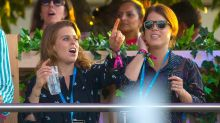 Royal Fans! Princesses Eugenie and Beatrice Dance While Attending Céline Dion Concert in London
