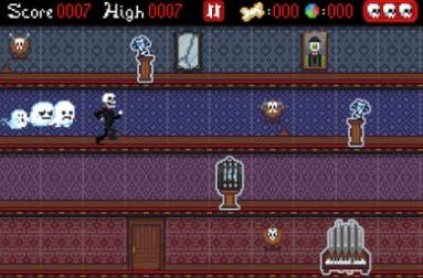 Daily iPhone App: Mansion Run through some spooky pixels