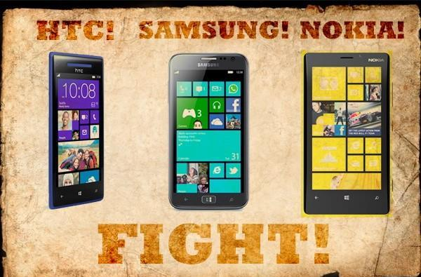 HTC's Windows Phone 8X vs. the competition: fight!