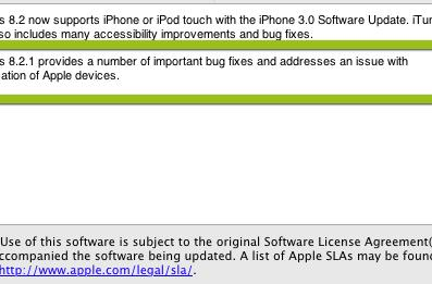 iTunes 8.2.1 released: Update cripples Palm Pre sync