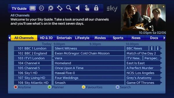 Sky+ rolls out a new HD guide starting today, keeps live, DVR and VOD TV level (video)