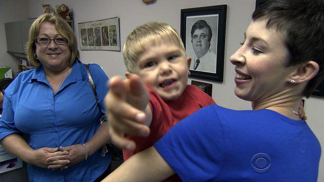 3-year-old making progress after implant lets him hear for first time