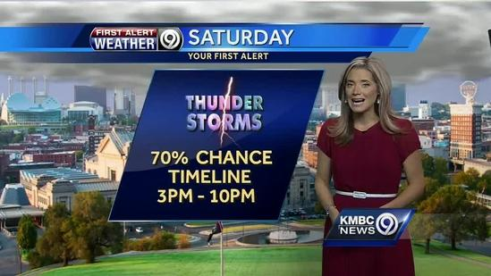 Thunderstorms, heavy rain possible later today