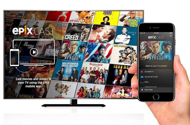 Epix's mobile app casts to smart TVs without a set-top box