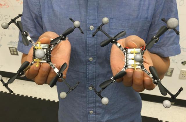 Virtual 'top hats' ensure swarming drones won't crash