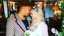 Spice Girl Emma Bunton marries in stunning mini wedding dress