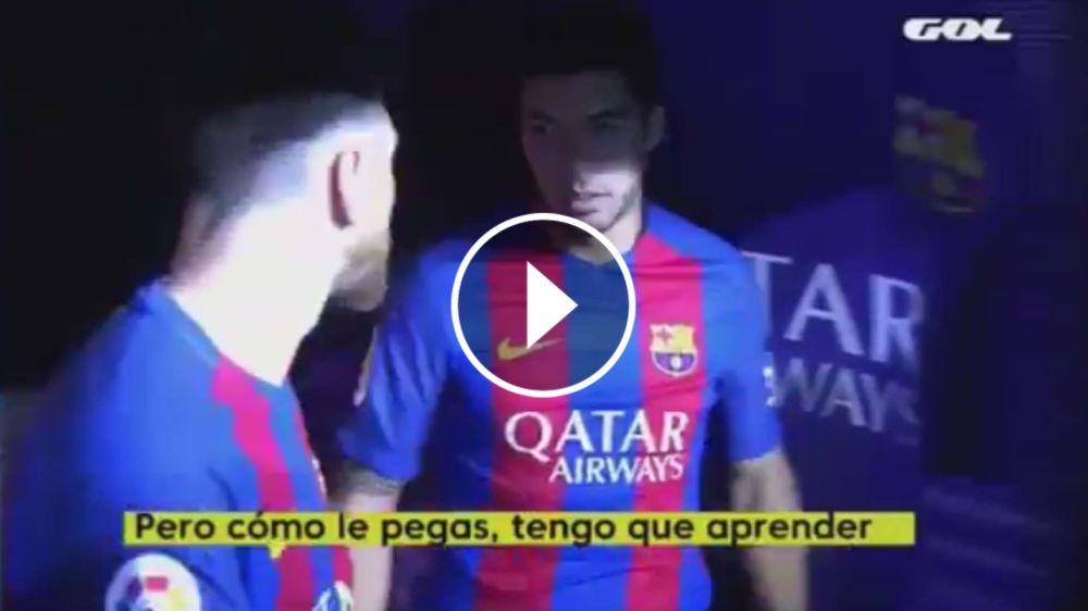 """El desopilante pedido de Suárez a Messi: """"¿Cómo le pegás? Tengo que aprender"""""""