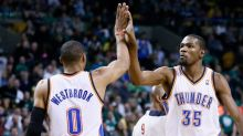 Asked to name top five players he played with, Kevin Durant initially omits Russell Westbrook (video)
