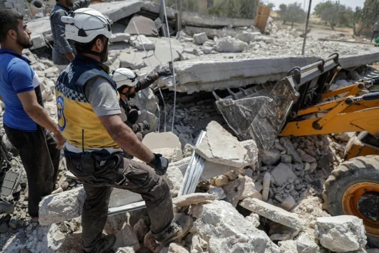 Heightened air strikes by the Syrian regime and its ally Russia on the Idlib region, the last major opposition bastion in the country, have killed hundreds since the end of April (AFP Photo/Abdullah Hammam)