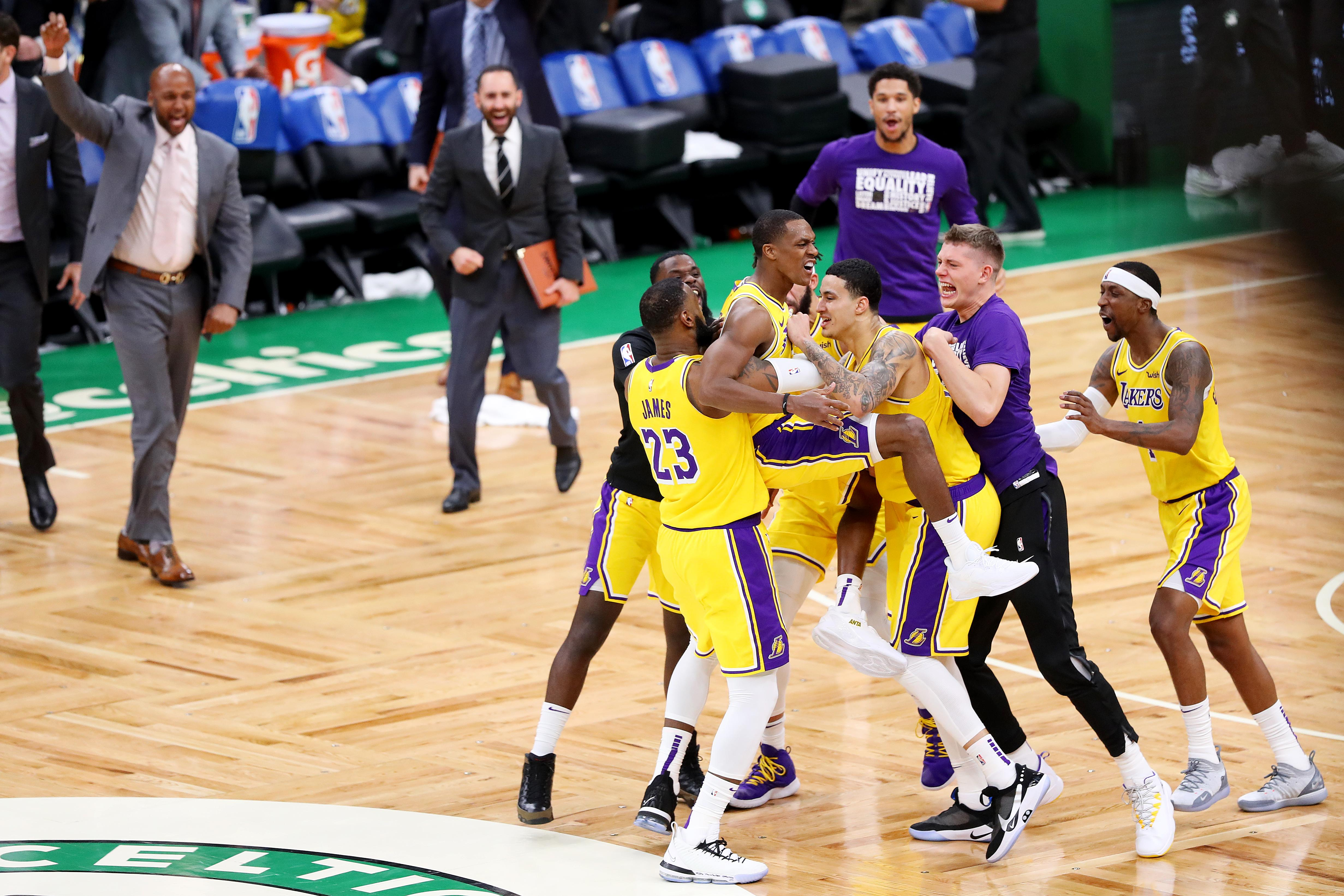 6998f5637 Lakers take down Celtics on buzzer-beater from Rajon Rondo