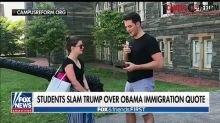Students at Georgetown University slam Donald Trump over Obama immigration quote